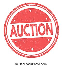 Auction sign or stamp - Auction grunge rubber stamp on white...