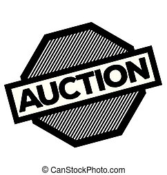 auction stamp on white