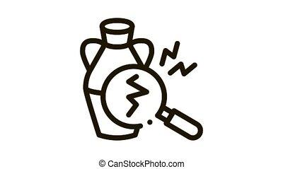 auction vase crack detection Icon Animation. black auction vase crack detection animated icon on white background