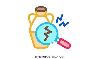 auction vase crack detection Icon Animation. color auction vase crack detection animated icon on white background