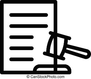 auction vector thin line icon