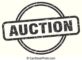 auction vintage stamp. auction sign