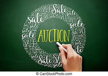 AUCTION word cloud collage
