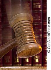 auctioneer, ou, juizes, gavel, -, ordem