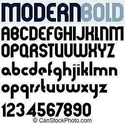 audace, manifesto, moderno, numbers., nero, font