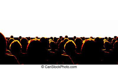 audiência, negócio
