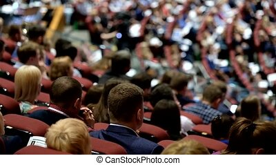 Audience at conference hall