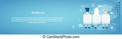 Audience Business Concept Web Horizontal Banner With Copy Space