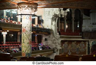 audience., de, la, musica, palau, barcellona, catalana