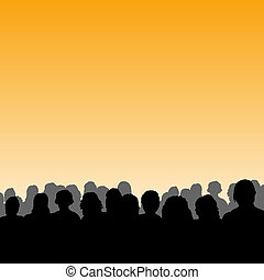 Audience silhouette