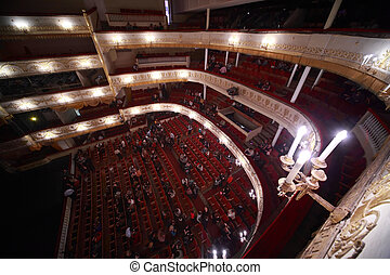 Audience go out from hall, after completion Monte Carlo of...