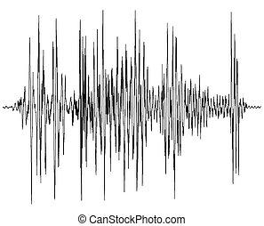 audio, bølge, diagram