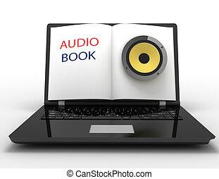 audio book concept . 3d illustration