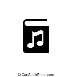 Audio Book Flat Vector Icon