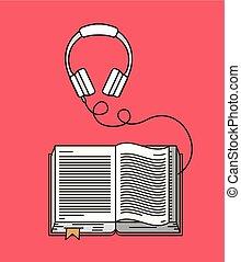 audio book isolated icon