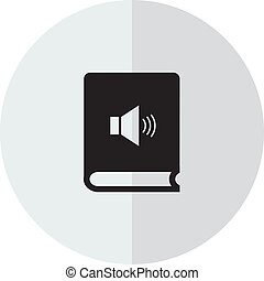 Audio book simple icon on white background. Vector illustration.