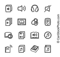 Audio books icons