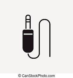 audio, câble, icône