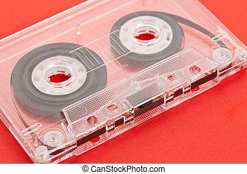 Audio Cassette close up shot