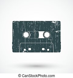 Audio cassette icon.