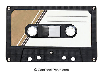 Audio cassette isolated on background