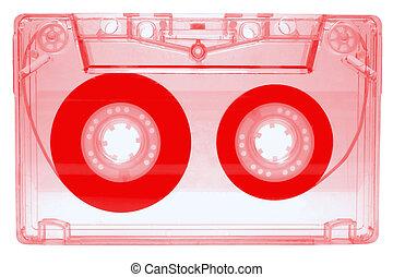 Audio cassette - red -