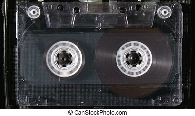 Audio cassette rewind or fastfoward from beginning to end