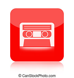 Audio cassette tape icon