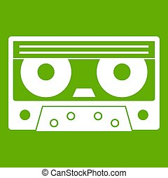 Audio cassette tape icon green