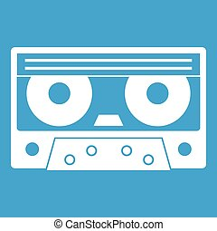Audio cassette tape icon white