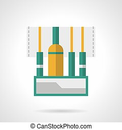 Audio connectors flat color vector icon