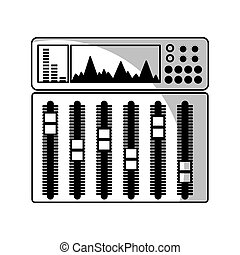 audio console professional icon vector illustration design