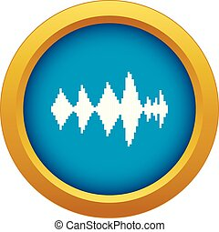Audio digital equalizer technology icon blue vector isolated on white background for any design