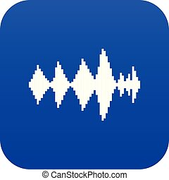 Audio digital equalizer technology icon digital blue for any design isolated on white vector illustration