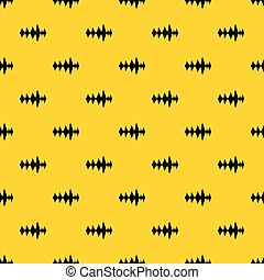 Audio digital equalizer technology pattern seamless vector repeat geometric yellow for any design