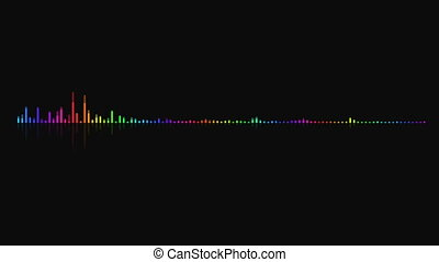 Audio equalizer background. Multicolor digital backdrop