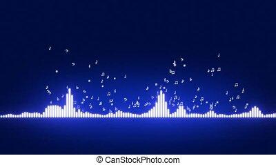 Audio equalizer bars moving. Music