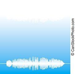 Audio Equalizer Pulse Blue Background
