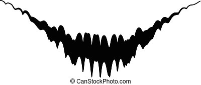 Audio equalizer pulse icon, simple black style