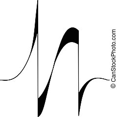 Audio equalizer shape icon, simple black style