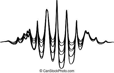 Audio equalizer soundwave icon, simple black style