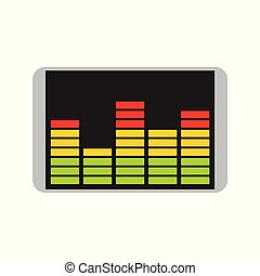 Audio Equalizer Spectrum Bars Chart Vector Illustration Graphic