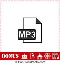 Audio file icon flat