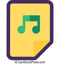 Audio File Icon Isolated Flat Vector Design