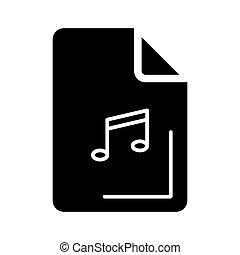 Audio file icon on white background. Vector illustration.