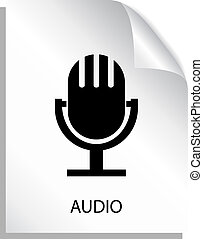 Audio file icon with microphone