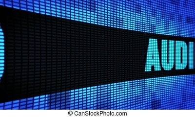 Audio Front Text Scrolling LED Wall Pannel Display Sign...