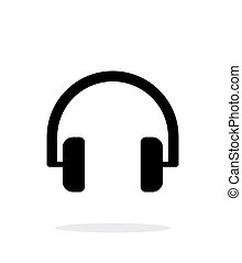 Audio headphones icon on white background.