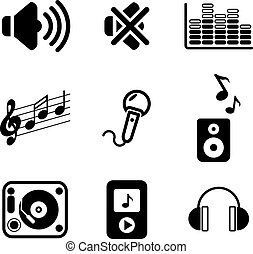 audio, iconen