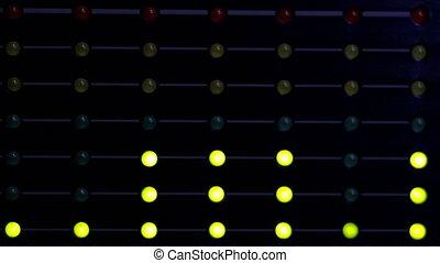 Audio level LED's indicators